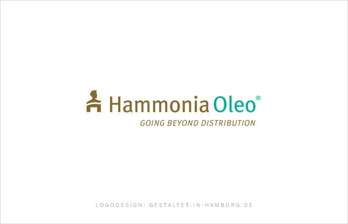 Logo Hammonia Oleo® Going beyond distribution, Logodesign gestaltet-in-hamburg.de