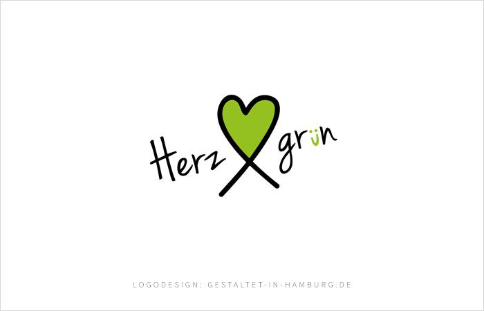 Logodesign Herzgrün