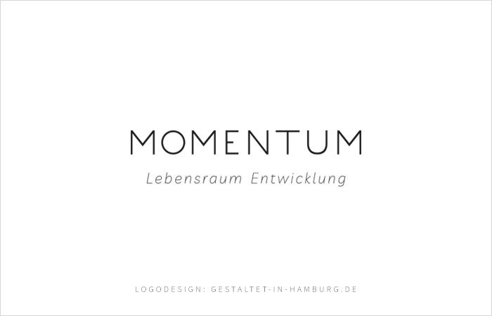 Logodesign MOMENTUM Lebensraum Entwicklung