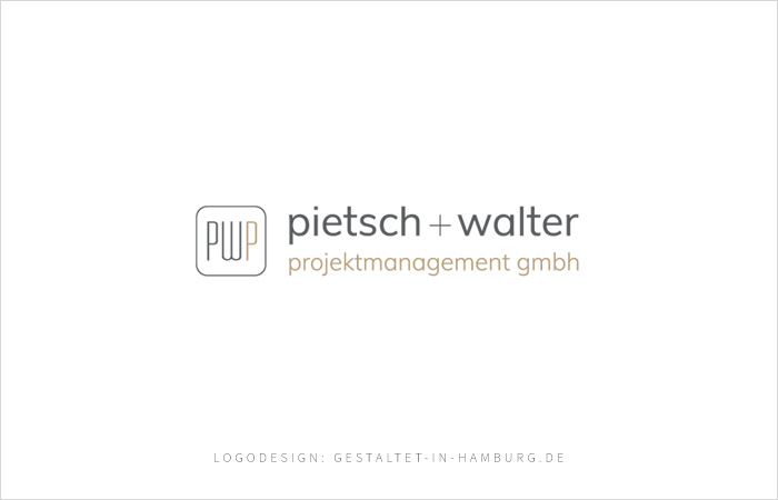 Logodesign pietsch + walter projektmanagement