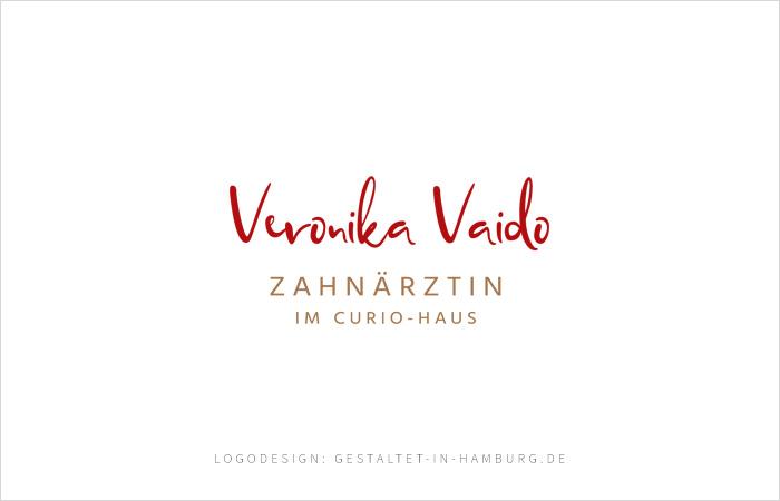 Logodesign Veronika Vaido, Zahnärztin im Curio-Haus, Logodesign: gestaltet-in-hamburg.de