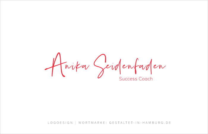 Logodesign Anika Seidenfaden, Success Coach