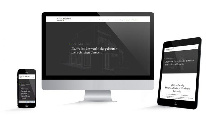 Webdesign aus Hamburg für Architekt Marcus Farwig
