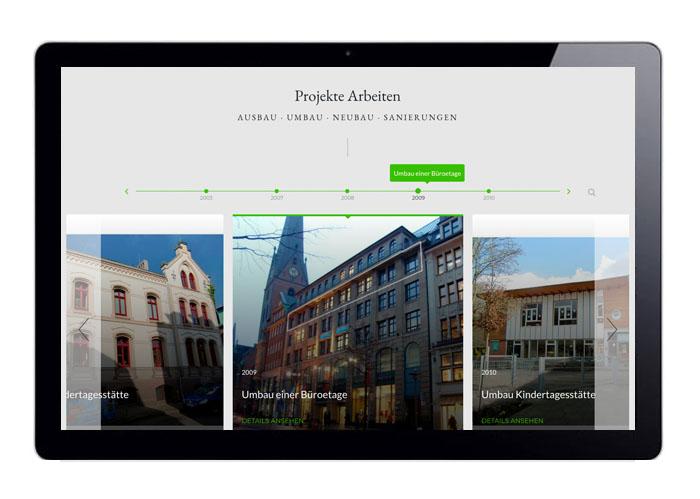 Webdesign Timeline Projekte Wohnen, Marcus Farwig, Architekt
