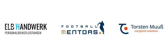 Logodesign gestaltet in Hamburg für Elb Handwerk, Football Mentors und Coach Torsten Muuß