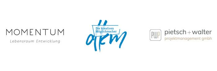 logodesign hamburg für momentum lebensraum entwicklung, kreative möglichmacher, projektmanagement